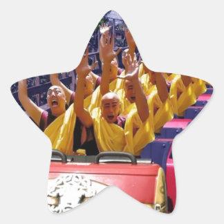 Monks-on-a-Roller-Coaster-67499.jpg Star Sticker