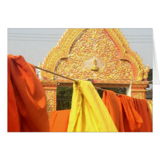 Monk's Robes Drying in Chiang Mai, Thailand Card