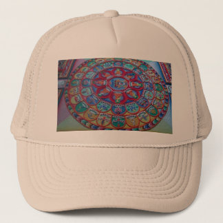 Monks Sand Art for Happiness Love and LuckHat Trucker Hat