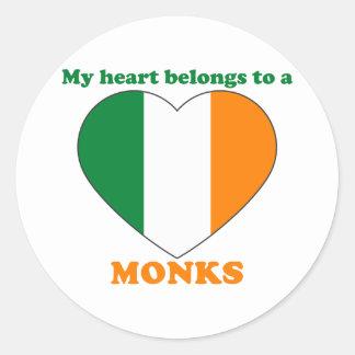 Monks Round Stickers