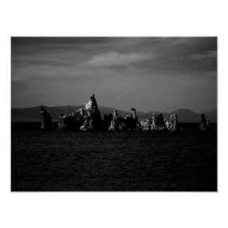 Mono Lake California - Black and White Poster