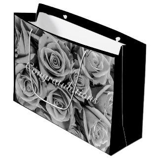 Monochromatic Congratulations Roses Gift Bag