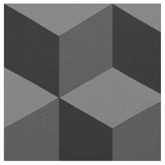 Monochromatic Cubism Fabric