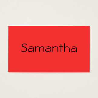 Monochromatic in Red Grapefruit Business Card