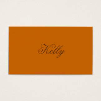 Monochromatic in Spiced Cider Business Card
