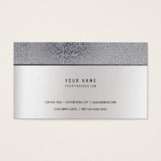 Monochromatic Minimal Pearl Gray Move Maker Silver Business Card