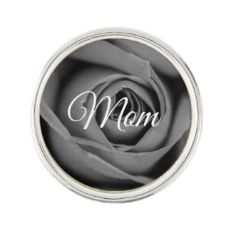 Monochromatic Mom Rose Lapel Pin