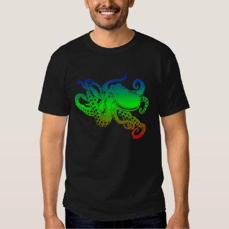 monochromatic octopus tees