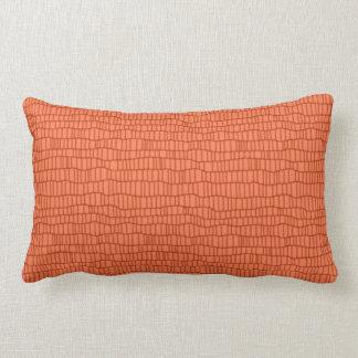 Monochromatic  Orange sherbert  accent  pillow