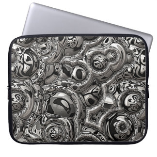 Monochromatic Reflections Laptop Sleeve
