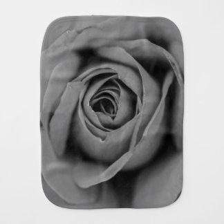 Monochromatic Rose Burp Cloth