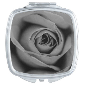 Monochromatic Rose Compact Mirror
