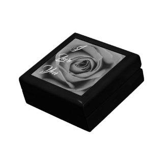 Monochromatic Rose I Love You Keepsake Gift Box