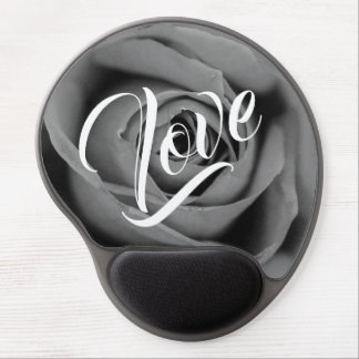 Monochromatic Rose Love Gel Mousepad