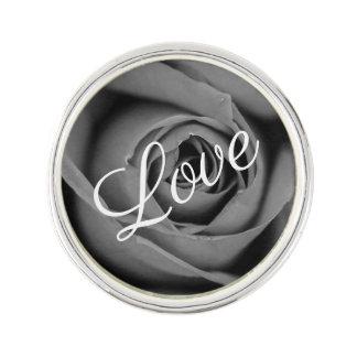 Monochromatic Rose Love Lapel Pin