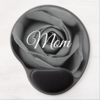 Monochromatic Rose Mom Gel Mousepad