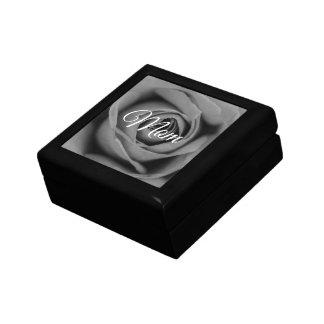 Monochromatic Rose Mom Keepsake Gift Box