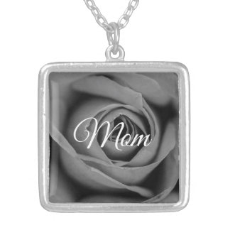Monochromatic Rose Mom Necklace