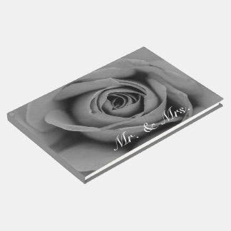 Monochromatic Rose Mr. & Mrs. Guestbook