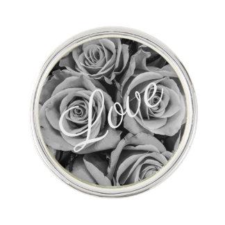 Monochromatic Roses Love Lapel Pin