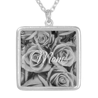 Monochromatic Roses Mom Necklace
