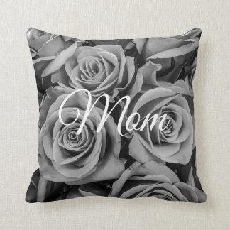 Monochromatic Roses Mom Throw Pillow