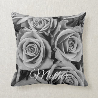 Monochromatic Roses Mother Throw Pillow