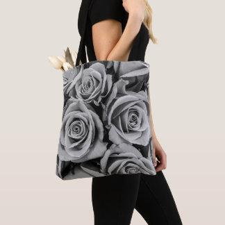 Monochromatic Roses Tote Bag