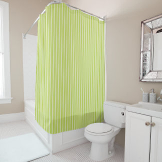 Monochromatic Thinly Striped - Shower Curtain