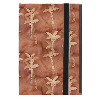 Monochromatic Tie-Dye Palm Tree Motif iPad Mini Covers