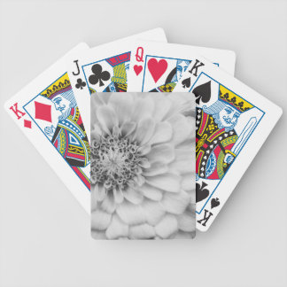 Monochromatic Zinnia Bicycle Playing Cards