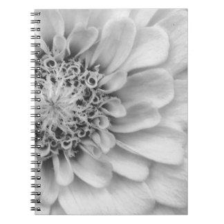 Monochromatic Zinnia Notebook