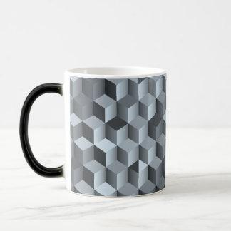 Monochrome 3D Cube Design Magic Mug