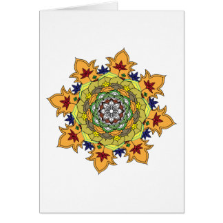 monochrome abstract flower mandala vintage decorat card