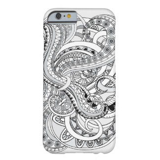 monochrome abstract pattern barely there iPhone 6 case