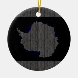 Monochrome Antarctica Flag Ceramic Ornament