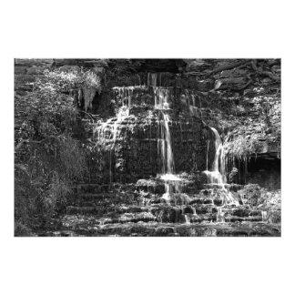 Monochrome Beulah Falls Photo Print