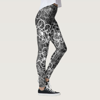 Monochrome Bicycles Pattern - Cyclist's Leggings