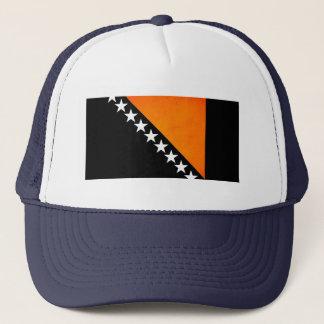 Monochrome Bosnia Herzegovina Flag Trucker Hat
