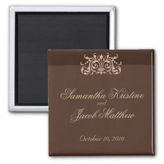 Monochrome Brown Save the Date Magnet