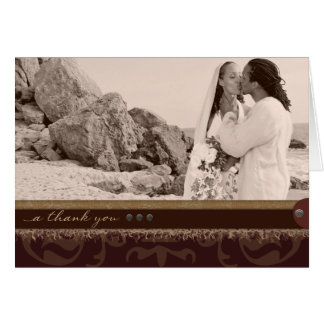 Monochrome Brown Thank You Note Card