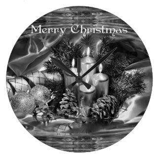 Monochrome Christmas Gift Clock