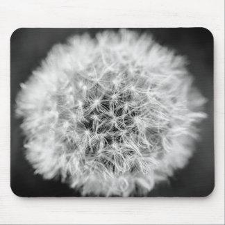 Monochrome Dandelion Mouse Pad