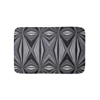 Monochrome Diamond Design Bath Mat
