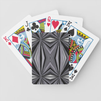 Monochrome Diamond Design Bicycle Playing Cards