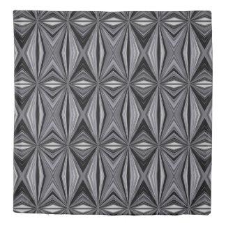 Monochrome Diamond Design Duvet Cover