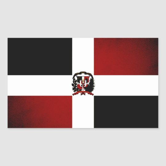 Monochrome Dominican Republic Flag Sticker