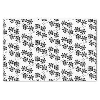 Monochrome Floral Pattern Tissue Paper