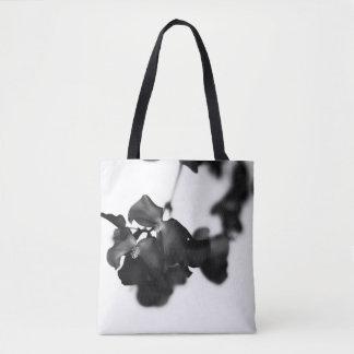 Monochrome floral tote