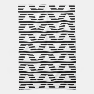 Monochrome Geometric Design. Pattern. Kitchen Towel